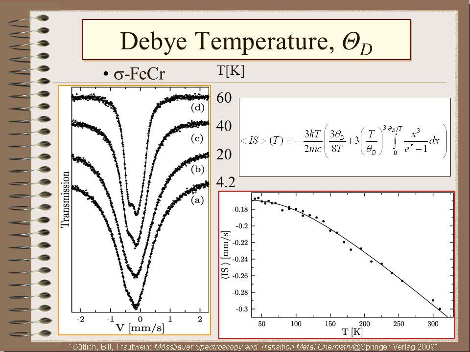 Debye Temperature, ΘD • -FeCr T[K] 60 40 20 4.2